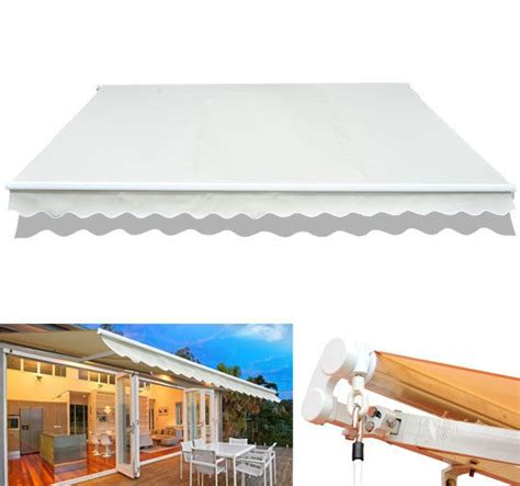 manual awnings for decks 12 215 10 patio deck manual retractable sun shade canopy
