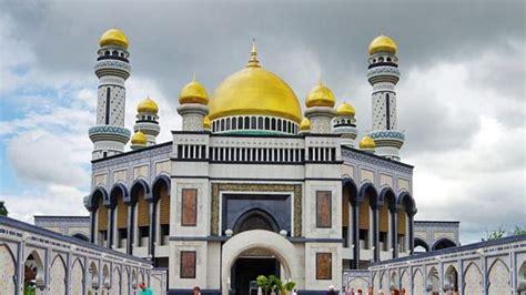 masjid berkubah emas  dunia  memesona mata
