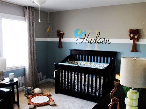 Boy Nursery Decorations Baby Boy Nursery Ideas Giraffe Owl Elephant Theme