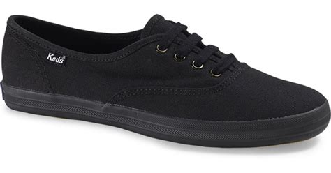 Keds Black White 1 keds chion canvas original black in black for lyst