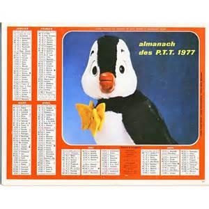 Calendrier Ptt Calendrier Almanach Des Ptt 1977 Nestor Le Pingouin