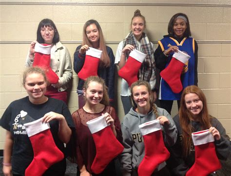 ace hardware zionsville snapshot nhs students make stockings for soldiers