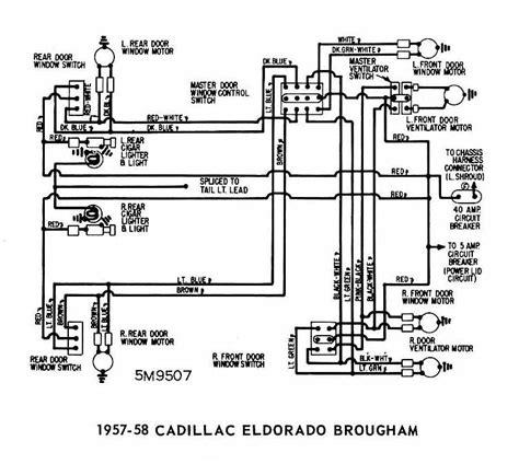 Cadillac Eldorado Brougham 1957 1958 Windows Wiring