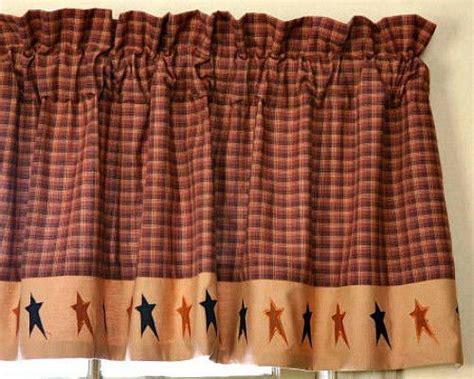 Black And Brown Window Valance Primitive Country Folk Black Valance Rust