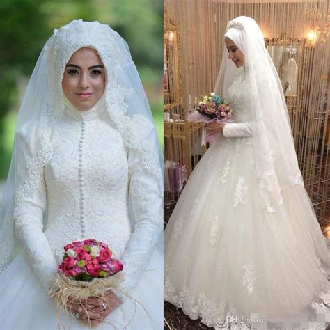 islamic plus size modest wedding dresses discount modest islamic muslim wedding dresses with