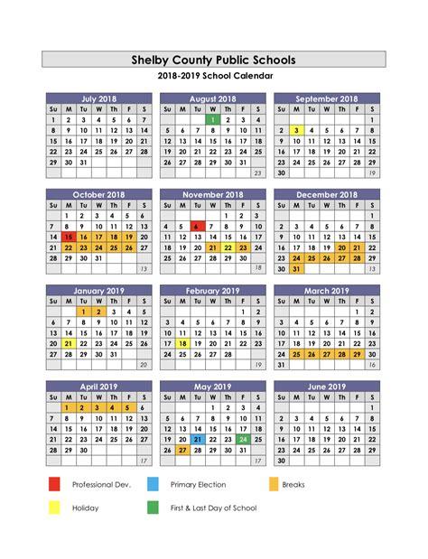 academic calendars calendar 2017 2018