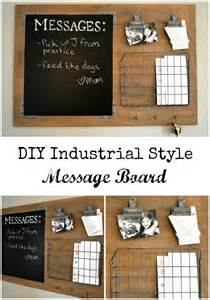Home Design Message Board by Diy Industrial Style Message Board