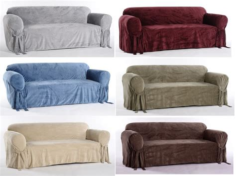 Velvet Sofa Slipcover Microfiber Plush Velvet Sofa Loveseat Arm Chair Covers