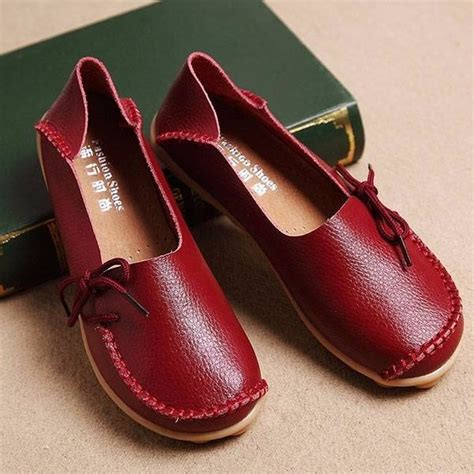 Big Sale Promo Songket Sadum Maroon sale big size color slip on lace up soft sole comfortable flat loafers newchic