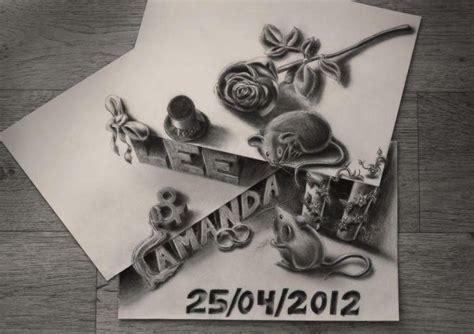imagenes impactantes en 3d impactantes dibujos 3d en blanco y negro hechos a l 225 piz