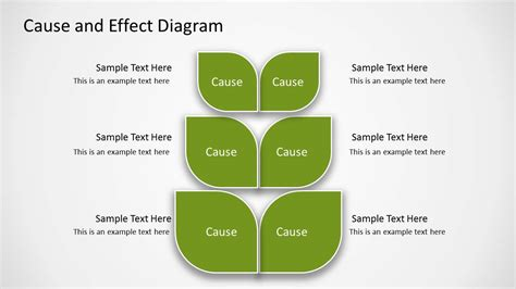 Green Cause Effect Diagram For Powerpoint Slidemodel Cause And Effect Diagram Template Powerpoint