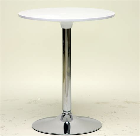 Modern Bistro Table Ji Small White Modern Bistro Table In Dining Tables