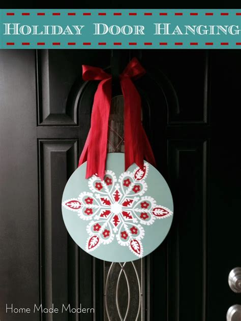 Door Back Hanger By Guess home made modern how to make a wreath from a placemat