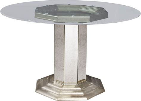 silver dining table couture silver pedestal dining table p022230 31