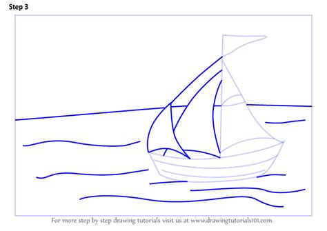 how to draw a water boat learn how to draw a sailboat on water boats and ships