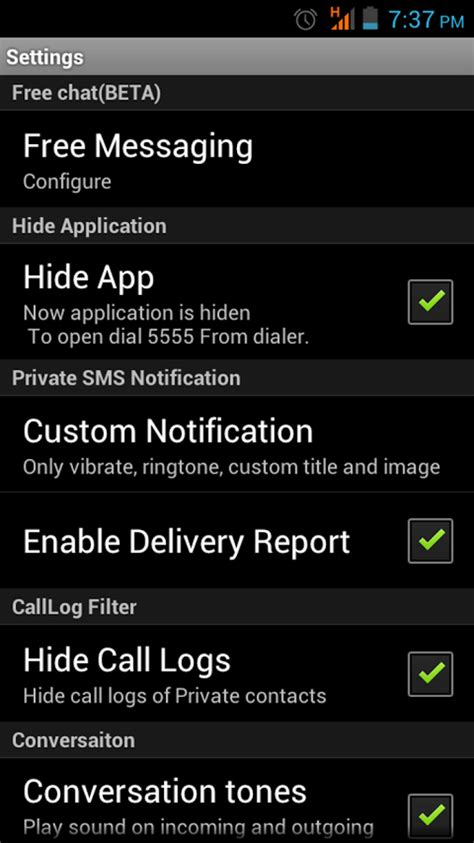 hide text messages android message box hide sms android apps on play