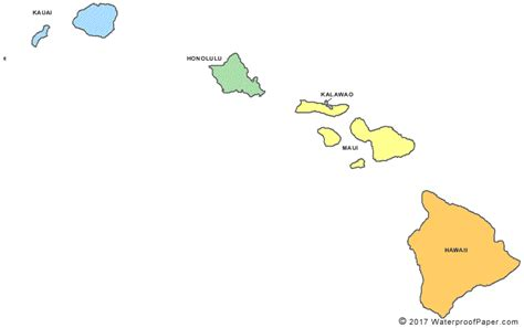 printable map hawaii printable hawaii maps state outline county cities