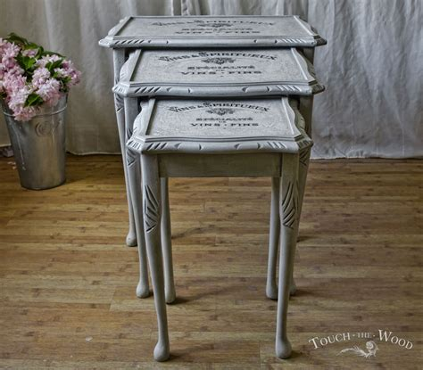 shabby chic nest of tables no 15 on sale touch the wood