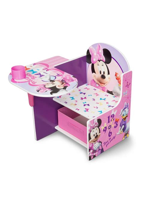 chair desk with storage bin minnie mouse chair desk with storage bin