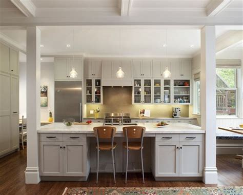 kitchen island with columns load bearing wall dream home load bearing wall columns look like part of the design