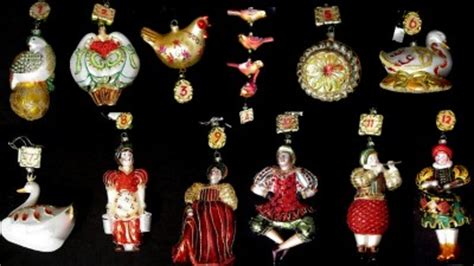 grande living 12 days of christmas dillards grande living all 12 days of blown glass ornaments set ebay