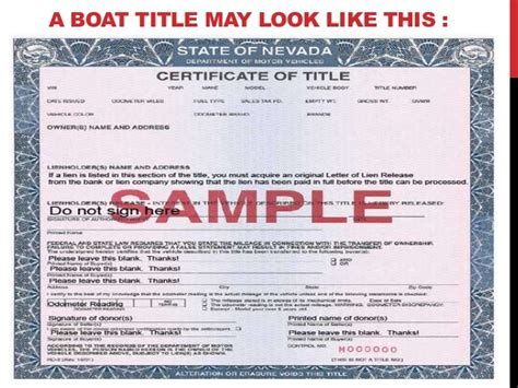 boat title looking for boat title in nevada