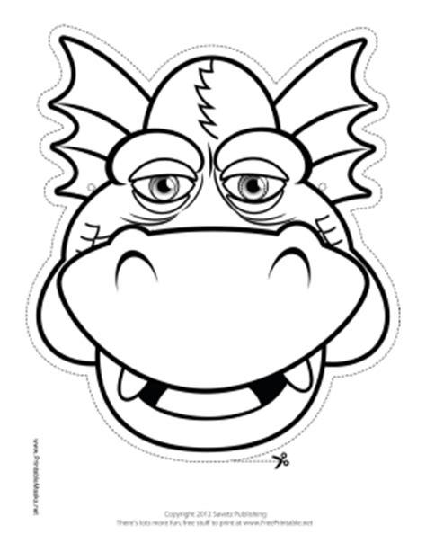 printable masks dragon printable dragon mask