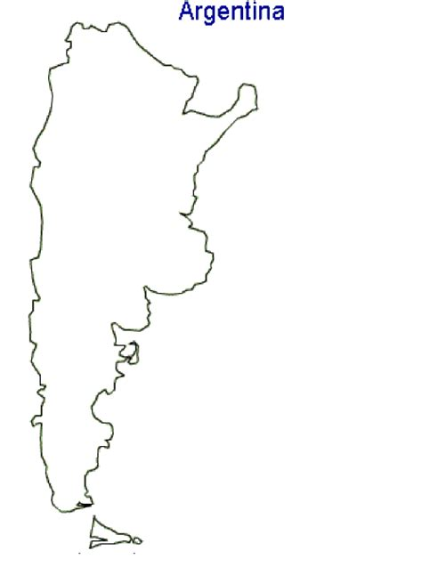 argentina map coloring page geography blog argentina outline maps