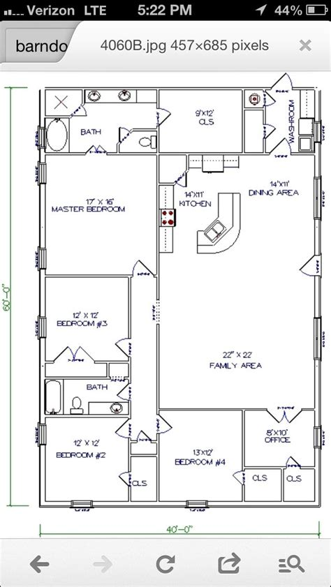 barn house workable floor plan add garage shop to