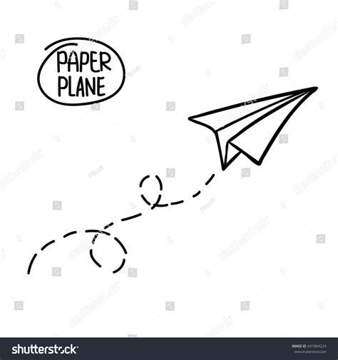airplane doodle vector free vector paper airplane travel route symbol stock vector