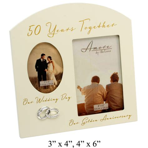 Wedding Anniversary Frames by Photo Frames 50th Golden Wedding Anniversary Multi