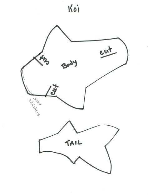 3d fish template kathy s angelnik designs project ideas 3d japanese