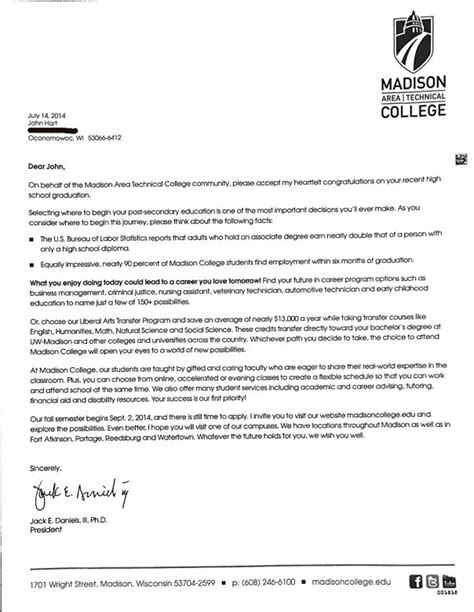 Simmons College Acceptance Letter 27 000 Some As As 85 Get Matc Recruiting Letter Targeting Recent High School Grads