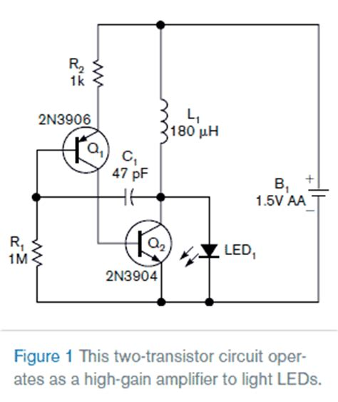 simple transistor relay driver world technical simple two transistor circuit lights leds