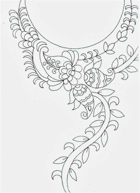 kurtis pattern vector embdesigntube amazing embroidery sketch neck patch