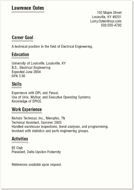 How To Write A Graduate Resume by Resume For No Experience How To Write A Resume With No Experience High School