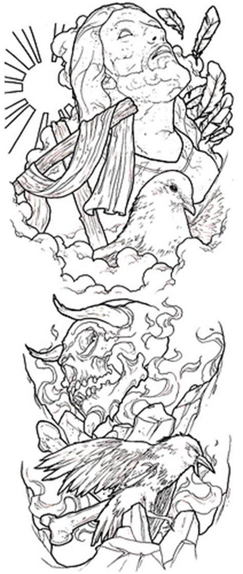 tattoo flash evil good evil conflict tattoo sleeve idea flickr photo