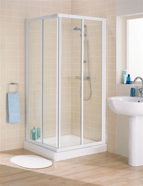 Elegant Bathroom Designs by Lakes Classic Framed Corner Entry Shower Enclosure 800mm White