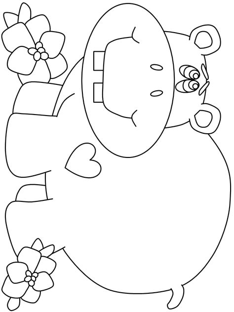 christmas hippo coloring page christmas hippo coloring page
