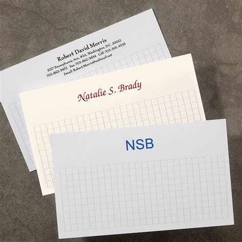 Custom Note 16 1000 personalized 3 x 5 cards horizontal personalized