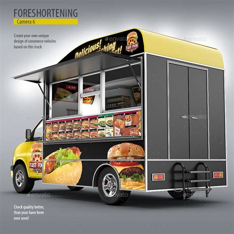 design your own food truck wrap food truck mock up van eatery mockup by bennet1890