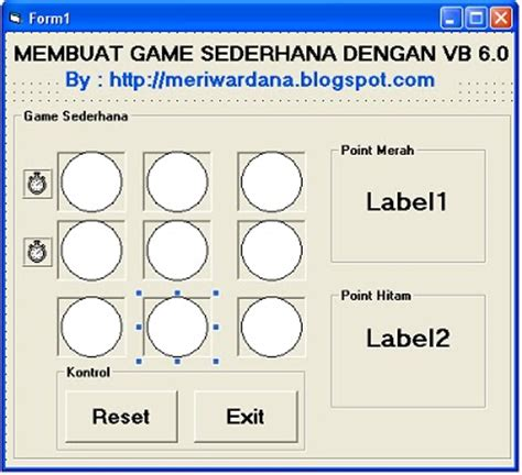 membuat game visual basic tutorial membuat game sederhana dengan visual basic