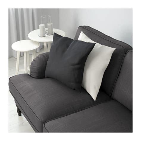 grey black sofa stocksund three seat sofa nolhaga dark grey black wood ikea