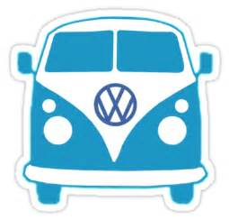 Bug Wall Stickers quot vw camper t shirt blue quot stickers by pinhead industries