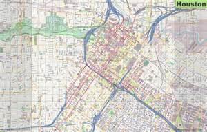 large detailed map of houston