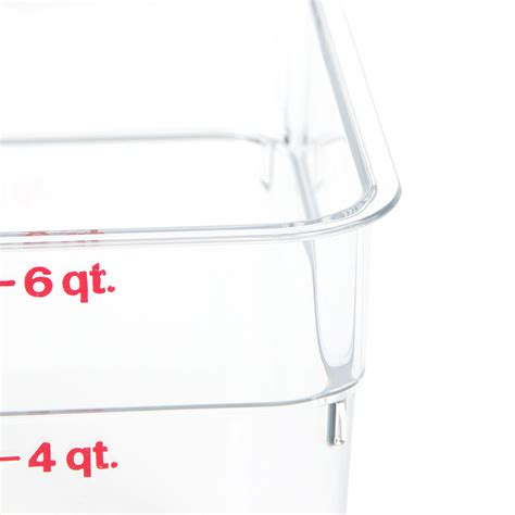 qt layout size percentage cambro 6sfscw135 6 qt camsquare food container clear