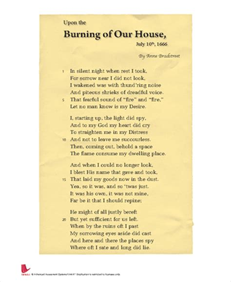 upon the burning of our house upon the burning of our house july 10th 1666