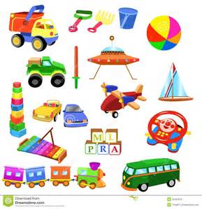 Vector Clip Of A Set Of Different Colored Set Of Toys Stock Photo Image 32487610