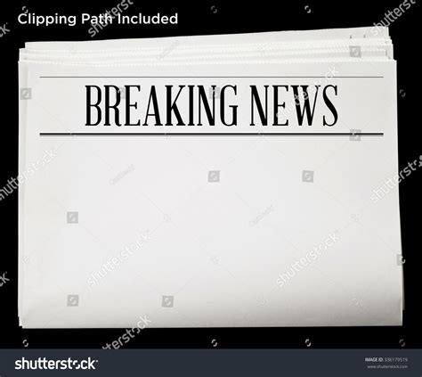 newspaper header template newspaper breaking news headline blank content stock photo
