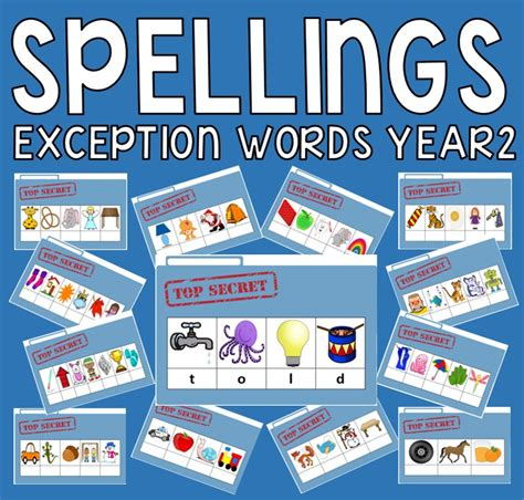 new year 2016 teaching resources ks1 60 spellings cards for year2 exception words ks1